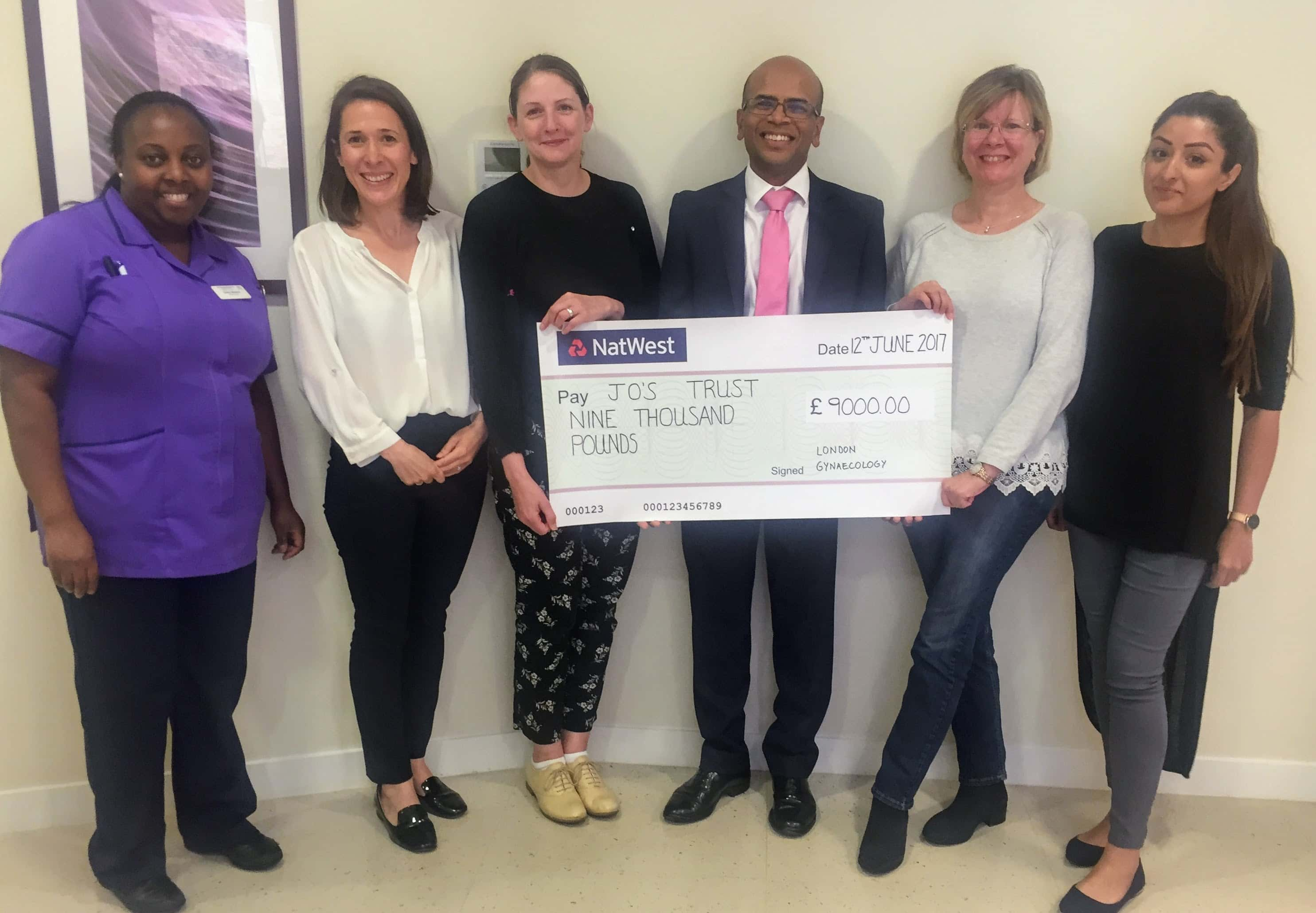 , Charity Donation to Jo's Trust